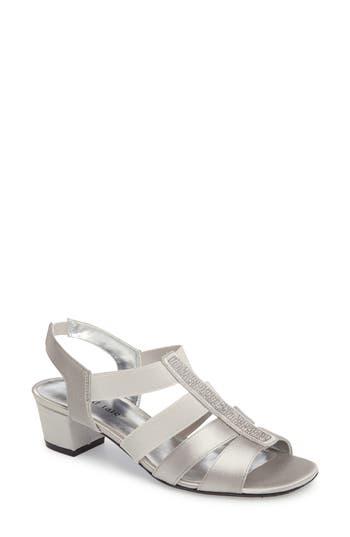 Women's David Tate Eve Embellished Sandal, Size 7 N - Metallic