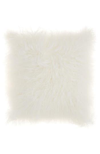 Mina Victory Genuine Tibetan Wool Shearling Pillow, Size One Size - Beige