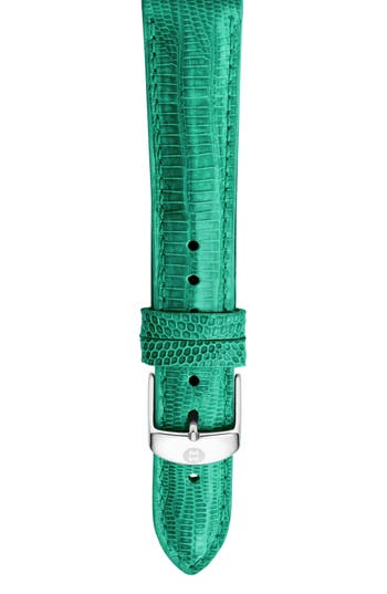 Women's Michele 16Mm Lizardskin Watch Strap