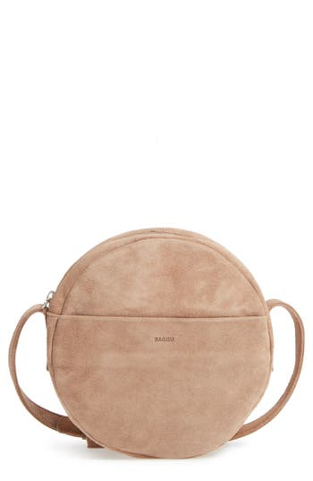 Baggu Pebbled Leather Crossbody Bag -