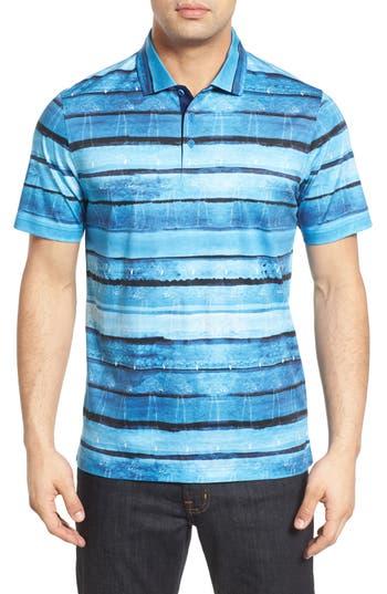 Men's Bugatchi Print Jersey Polo
