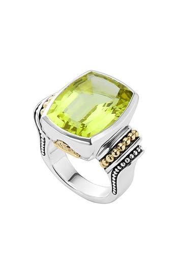 Women's Lagos 'Caviar Color' Large Semiprecious Stone Ring