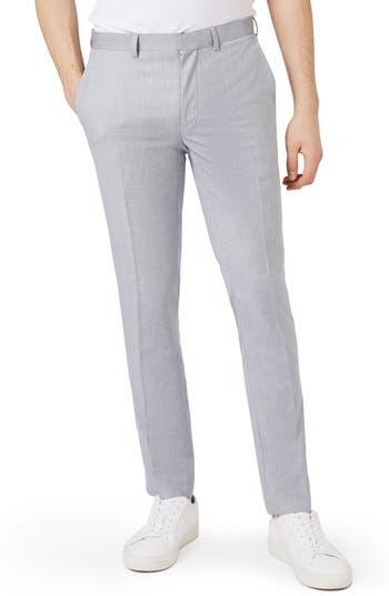 Men's Topman Skinny Fit Crosshatch Trousers