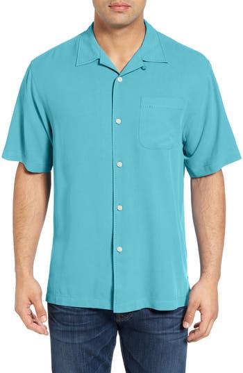 Men's Big & Tall Tommy Bahama Catalina Twill Short Sleeve Silk Camp Shirt