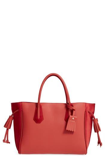 Longchamp Medium Penelope Fastaisie Leather Tote - Red