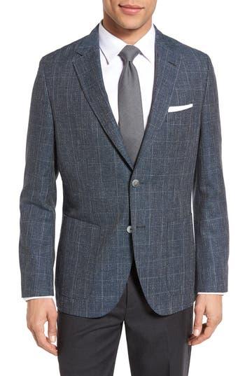Men's Boss Janson Trim Fit Windowpane Wool Blend Sport Coat