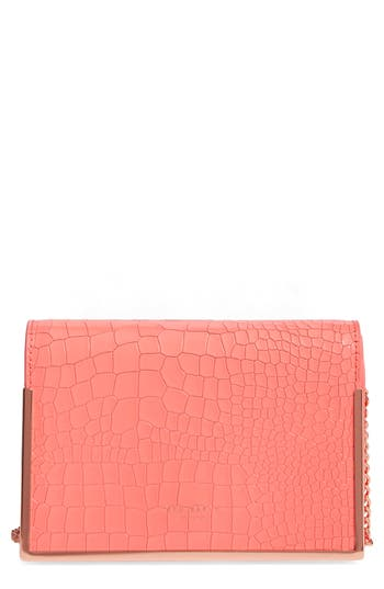 Ted Baker London Leather Crossbody Bag - Pink