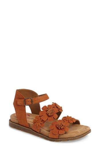 Comfortiva Alyssa Flower Applique Sandal, Orange