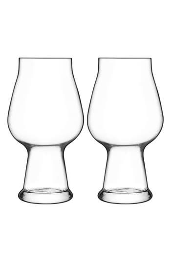 Luigi Bormioli Birrateque Set Of 2 Stout Glasses, Size One Size - White