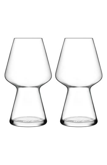 Luigi Bormioli Birrateque Set Of 2 Seasonal Beer Glasses, Size One Size - White