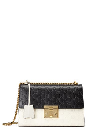 Gucci Medium Padlock Signature Leather Shoulder Bag - None