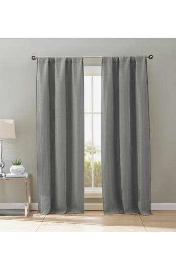 Duck River Textile Maeve Set Of 2 Blackout Pole Top Window Panels, Size One Size - Grey