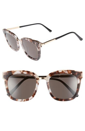 Women's Gentle Monster Button 54Mm Zeiss Lens Sunglasses - Tortoiseshell/ Gold