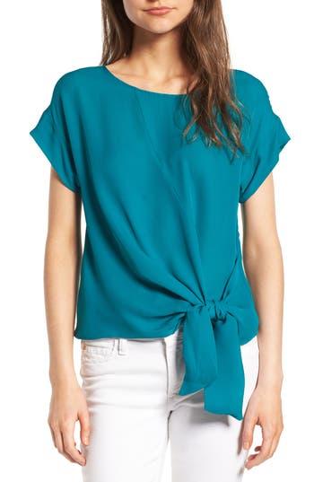 Women's Amour Vert Camila Silk Top, Size X-Small - Blue