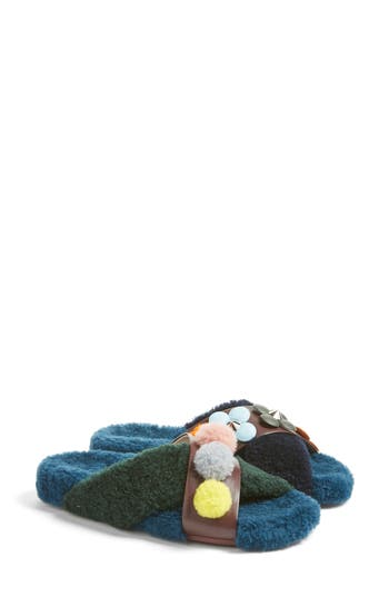 Women's Fendi Genuine Shearling Slide Sandal