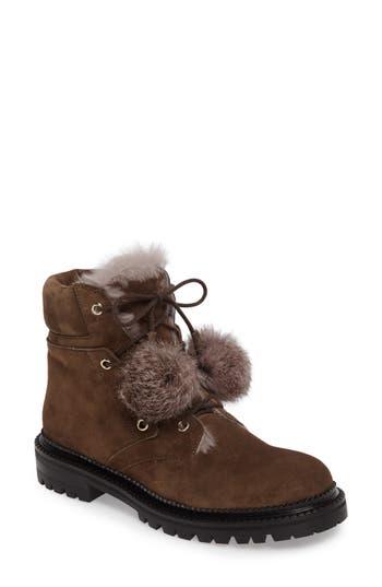 Women's Jimmy Choo Elba Genuine Rabbit Fur Boot