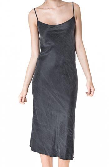 Women's Ragdoll Silk Slipdress, Size Medium - Black
