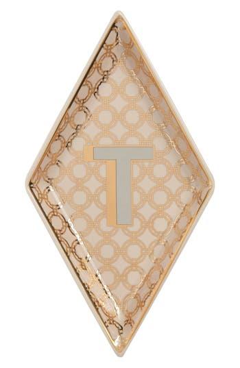 Roseanna Porcelain Alphabet Trinket Tray, Size One Size - Yellow