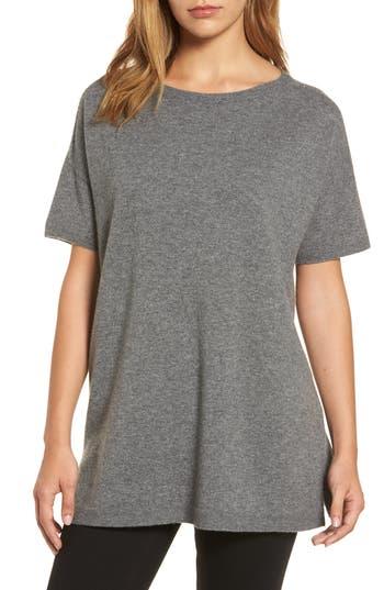 Women's Eileen Fisher Cashmere Tunic Sweater, Size XX-Small - Grey