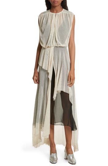 Women's Rachel Comey Tangle Ruffle Midi Dress, Size 6 - Beige