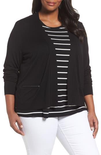 Plus Size Women's Sejour Crop Open Front Cardigan