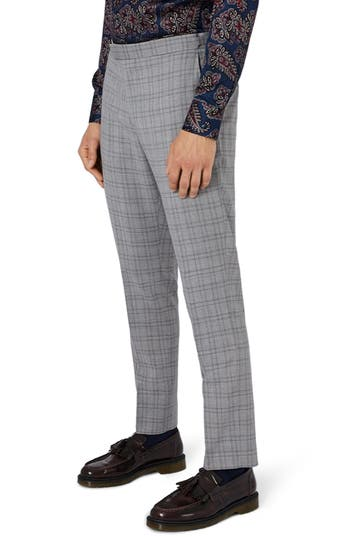 Men's Charlie Casely-Hayford X Topman Skinny Fit Check Suit Trousers