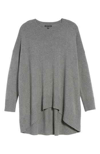 Women's Eileen Fisher Cashmere & Wool Blend Oversize Sweater, Size Small/Medium - Grey