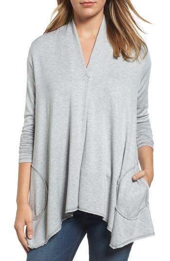 Women's Bobeau Snap Front Jacket, Size X-Small - Grey