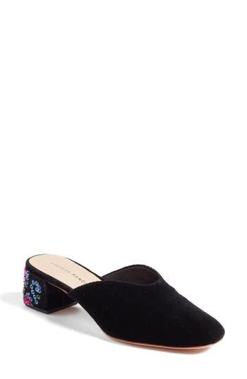 Women's Loeffler Randall Lulu Block Heel Mule, Size 5.5 M - Metallic