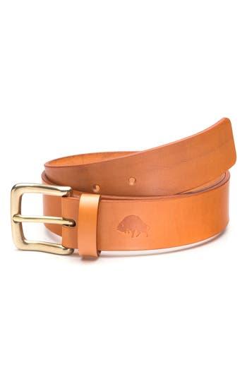 Ezra Arthur No. 1 Leather Belt, Golden Tan