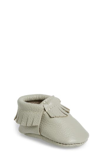 Infant Freshly Picked Classic Moccasin, Size 1 M - Grey