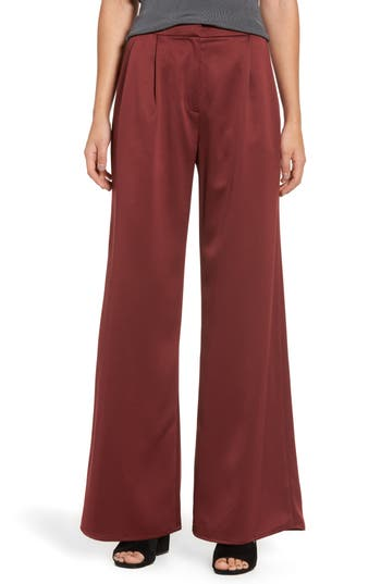Women's Leith Wide Leg Satin Trousers