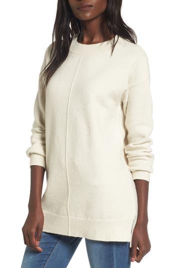 Women's Bp. Seam Front Tunic Sweater, Size XX-Small - Beige