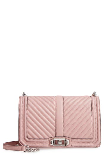 Rebecca Minkoff 'Chevron Quilted Love' Crossbody Bag - Pink