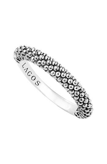 Women's Lagos Caviar Stacking Ring