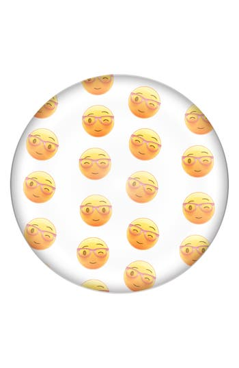 Cathy'S Concepts Emoji Domed Glass Paperweight - Yellow