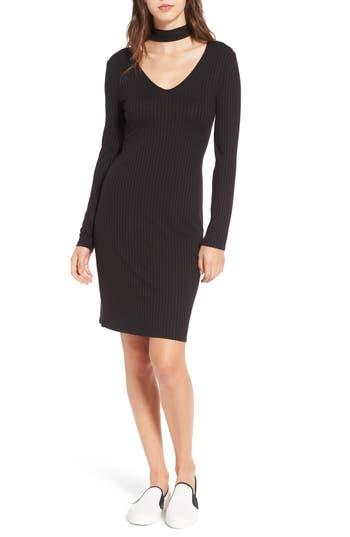 One Clothing Ribbed Choker Dress, Black