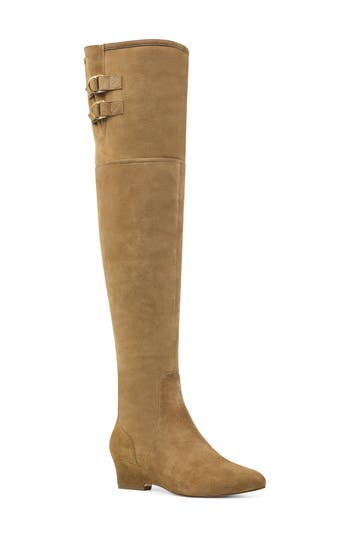 Nine West Jaen Over The Knee Boot- Green