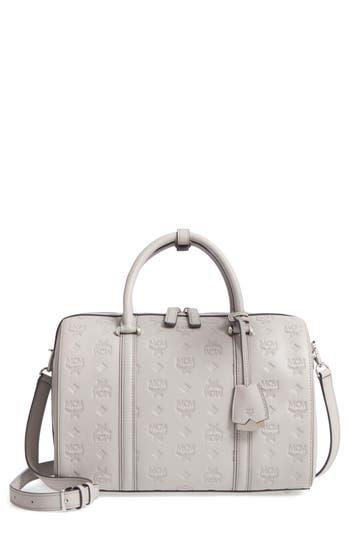 Mcm Signature Monogram Embossed Leather Crossbody Bag -