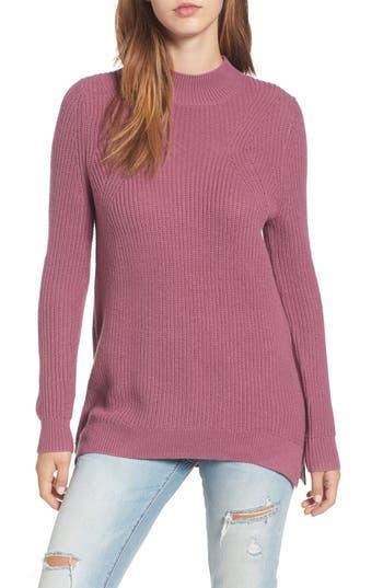 Women's Bp. Mock Neck Tunic Sweater, Size XX-Small - Purple