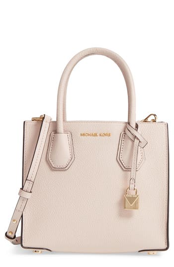 Michael Michael Kors Mercer Leather Crossbody Bag - Pink