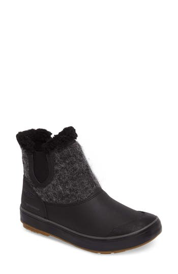 Keen Elsa Chelsea Waterproof Faux Fur Lined Boot, Black