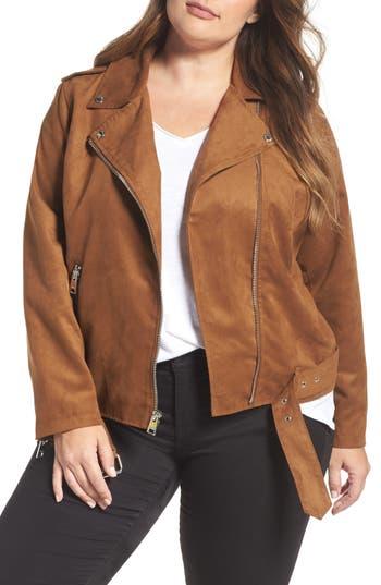 Plus Size Women's Levis Faux Suede Moto Jacket