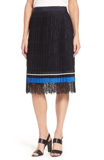 Women's Boss Minka Pleated Lace Skirt, Size 0R - Blue