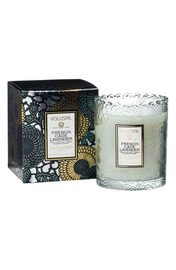 Voluspa Japonica French Cade Lavender Boxed Scalloped Candle