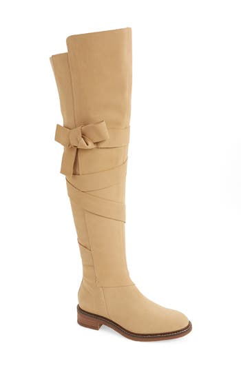 Kelsi Dagger Brooklyn Colby Over The Knee Boot- Beige