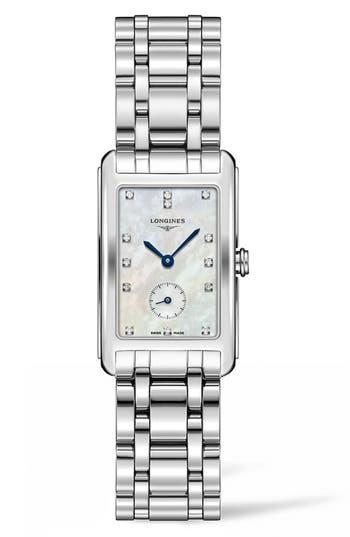 Women's Longines Dolcevita Diamond Bracelet Watch, 23Mm X 37Mm