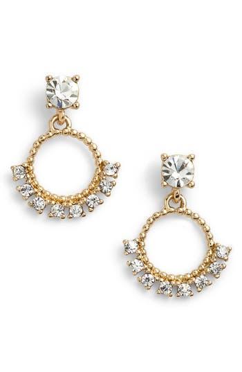Women's Marchesa Imitation Pearl & Crystal Drop Earrings