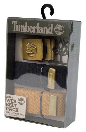 Men's Timberland Two-Strap Web Belt, Size One Size - Black