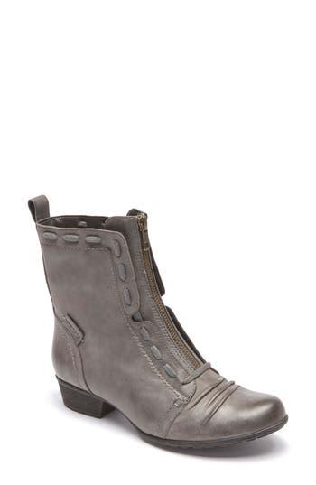 Rockport Cobb Hill Gratasha Front Zip Boot, Grey